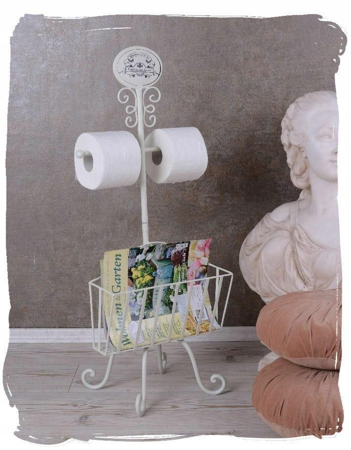 Stojan na toaletný papier s držiakom na noviny