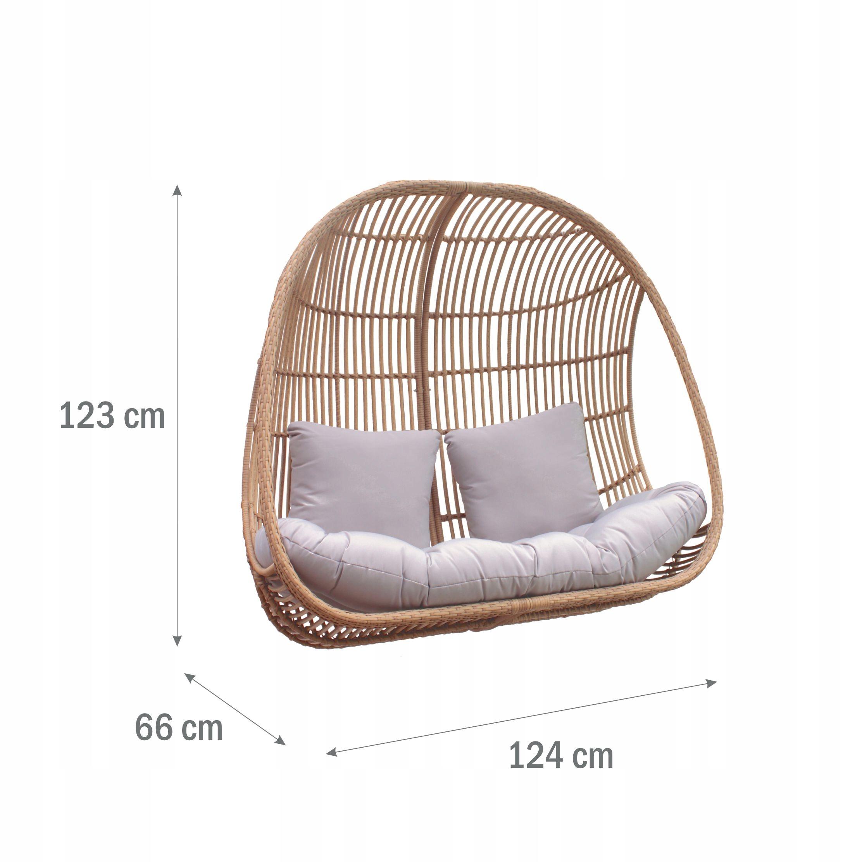 Závesná záhradná stolička XXL Hojdací kôš Cocoon Moderný štýl