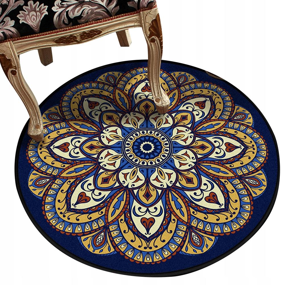 Okrúhly koberec, retro, etnický štýl 80 cm