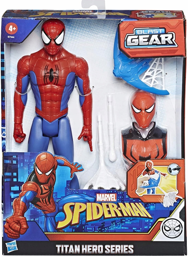 HASBRO SPIDERMAN + WYRZUTNIA BLAST GEAR E7344 Typ figurka