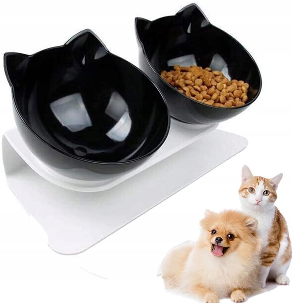 ДВОЙНАЯ ЧАША С ПОДСТАВКОЙ для Собаки Кошки