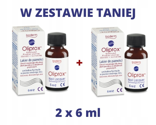 OLIPROX Lakier 2 x 6 ml W ZESTAWIE TANIEJ
