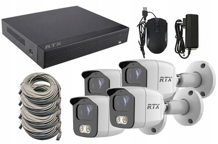 Zestaw Monitoring RTX 4x kamera IP 4Mpx P2P PoE
