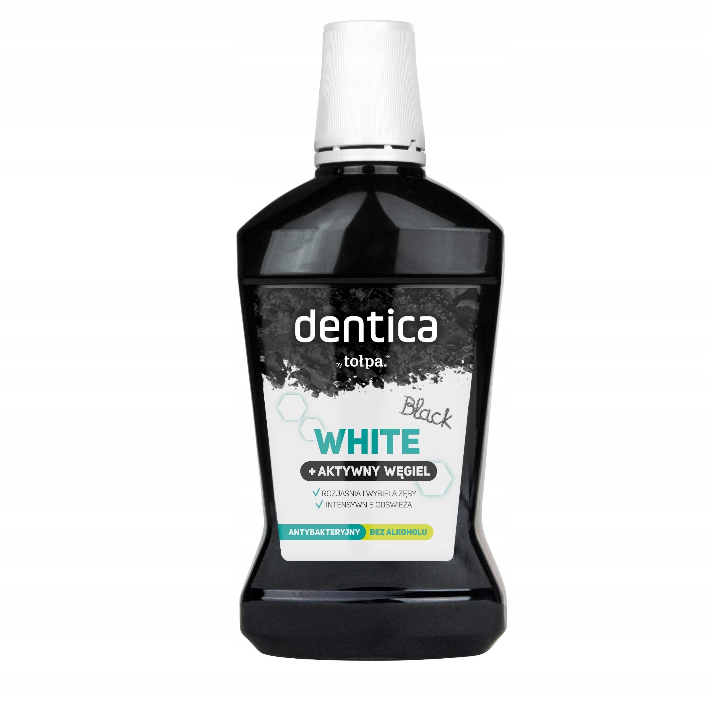 Tołpa dentica wybielający płyn Black White +próbka