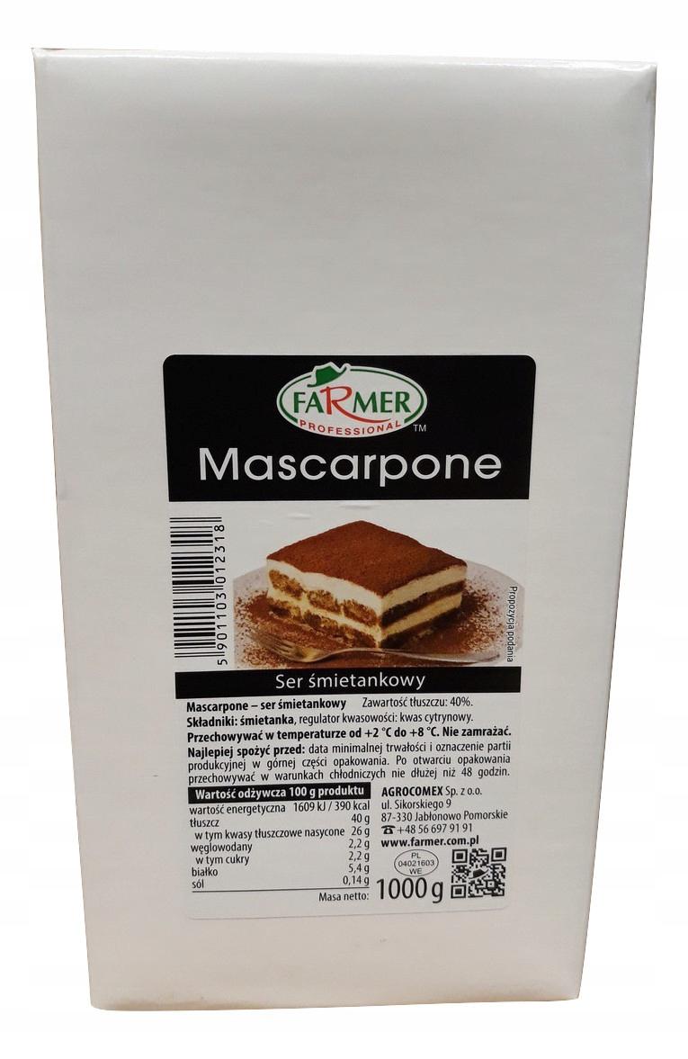 Mascarpone Ser Śmietankowy (40%) 12 kg