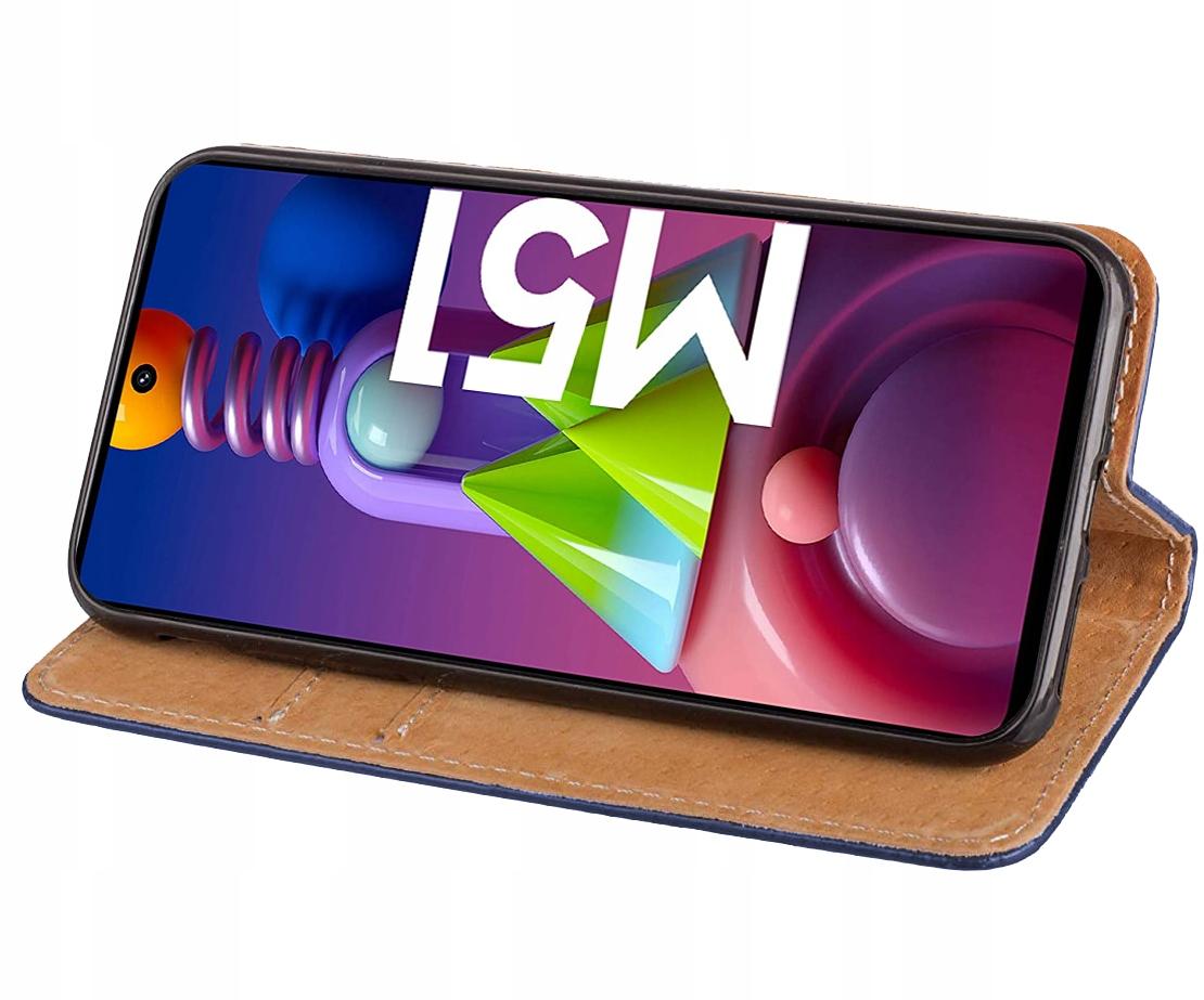 Etui do Samsung Galaxy M51 Skórzane Portfel +Szkło Kod producenta E58A