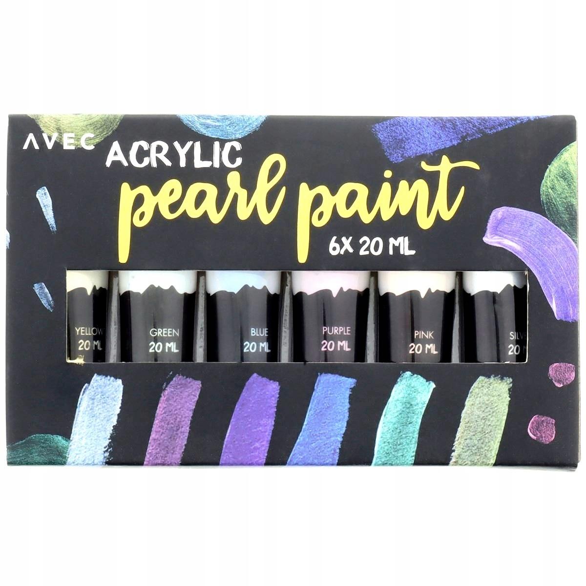 Набор акриловых красок PEARL ACRYLIC PAINTS 6х20 мл