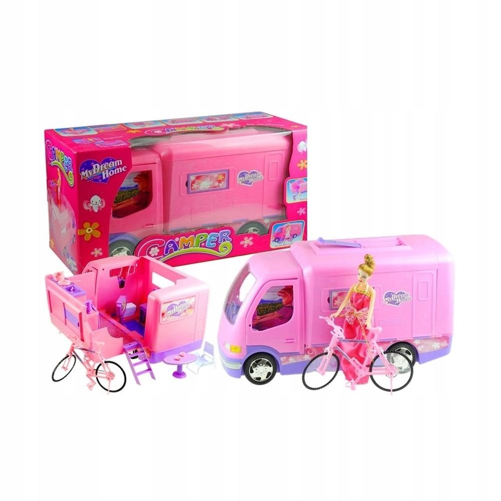 AUTO Huge Camper Camper pre bábiku + bicykel