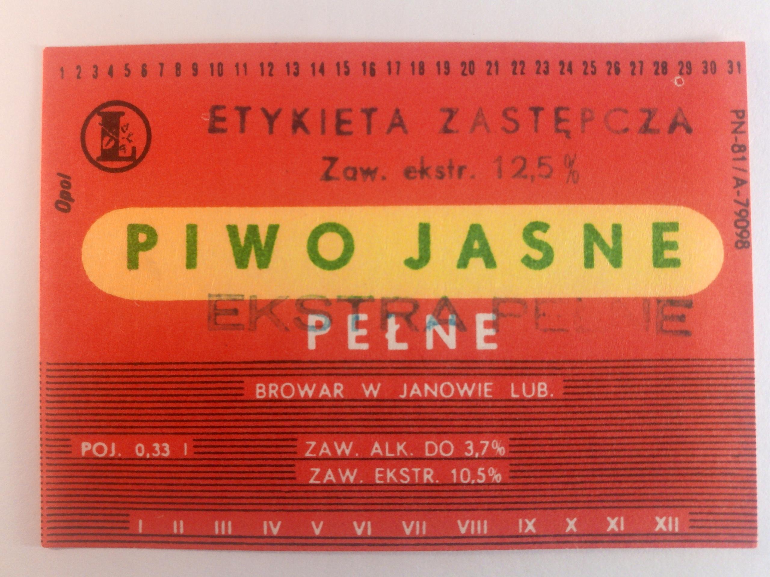 Купить Этикетка Пивоварня Янув-Любельский Замените этикетку на Otpravka - цены и фото - доставка из Польши и стран Европы в Украину.