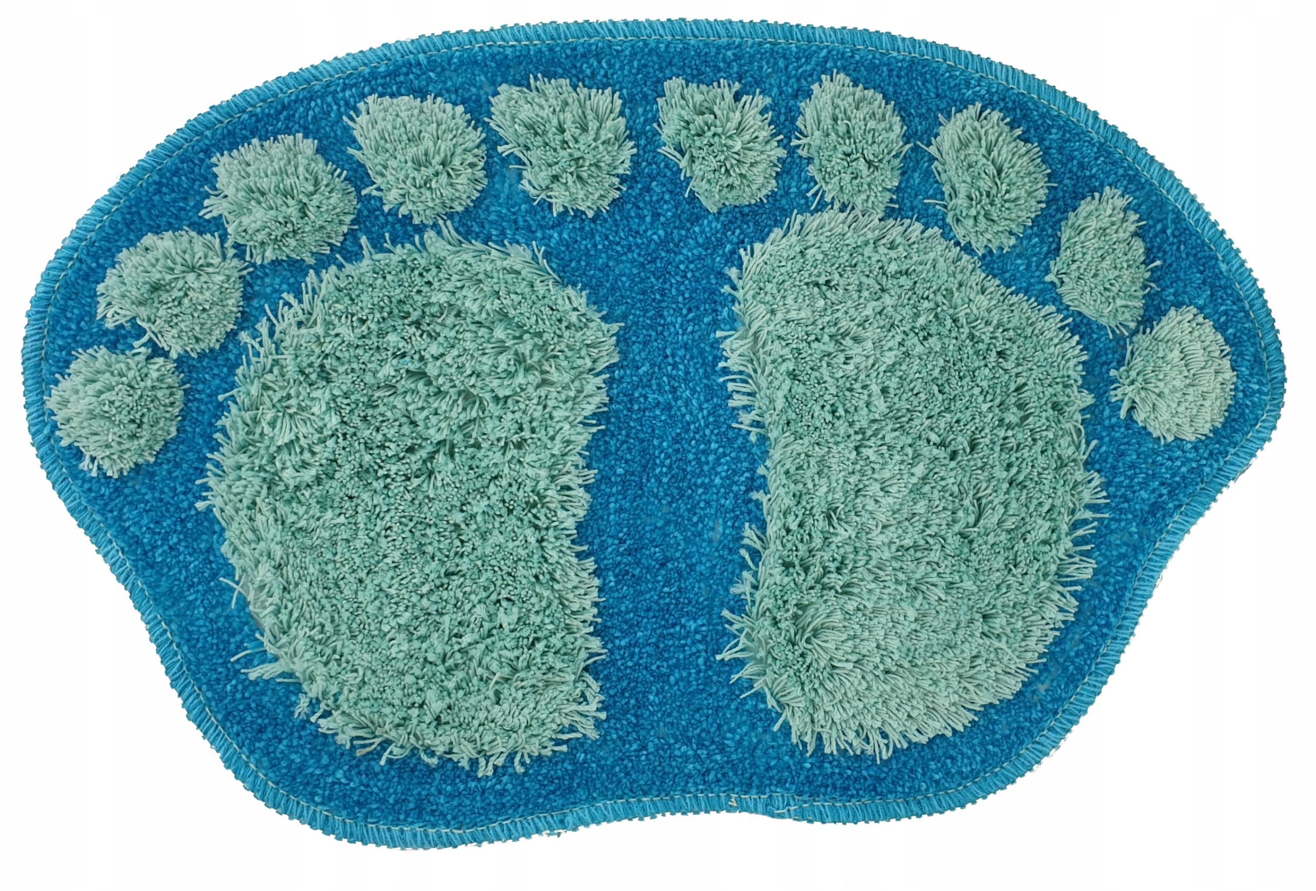 Kúpeľňa Koberec Rug Foot Blue
