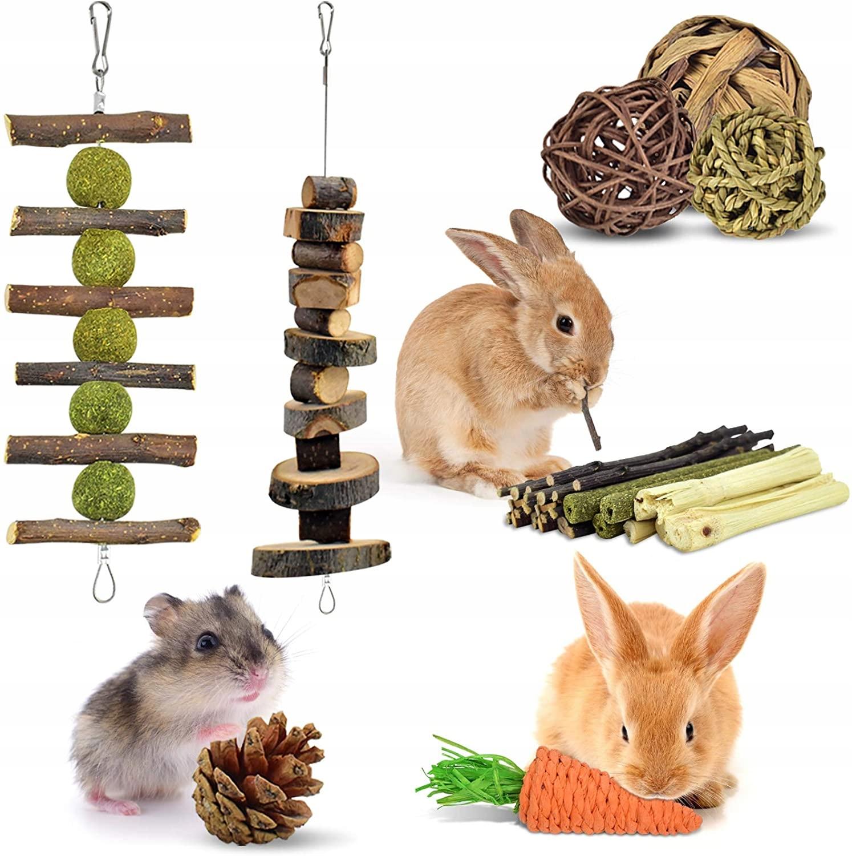 Набор игрушечных прорезывателей для грызунов, кроликов, свиней