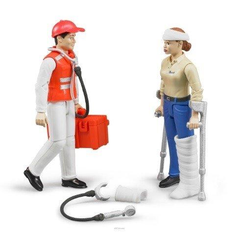 Bruder 62710 bSvetové figúrky záchranca a pacient