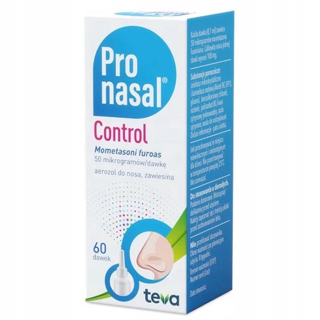 Pronasal Control areozol do nosa alergia 60 dawek