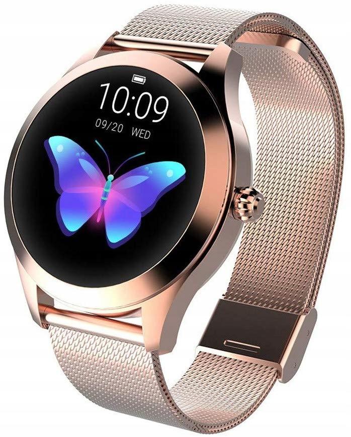 Zegarek Damski Smartwatch Złoty Pulsometr KW10