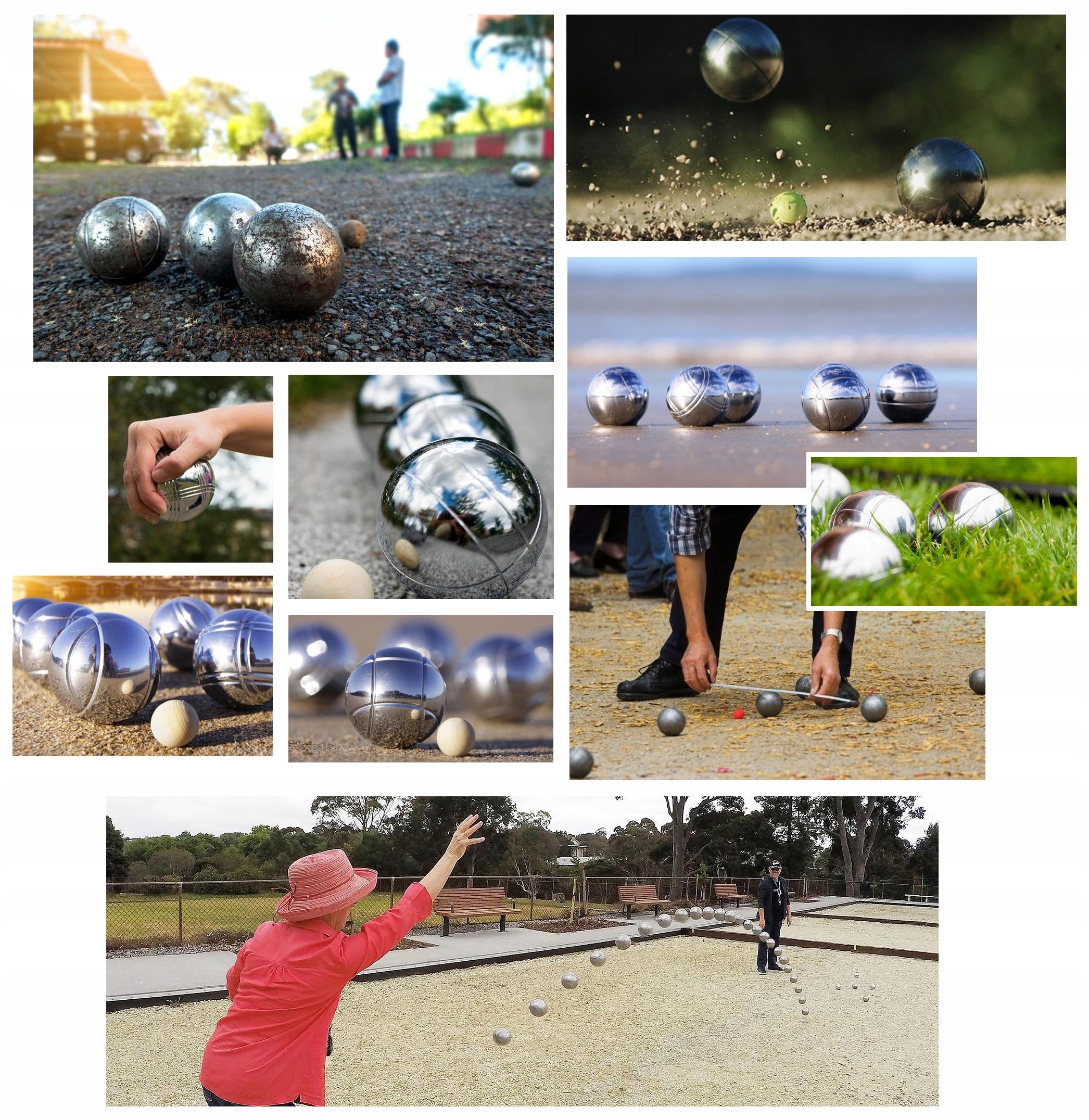 Купить Игровые шары БУЛЬ БУЛ петанка ПЕТАНК 8 мячей набор на Otpravka - цены и фото - доставка из Польши и стран Европы в Украину.