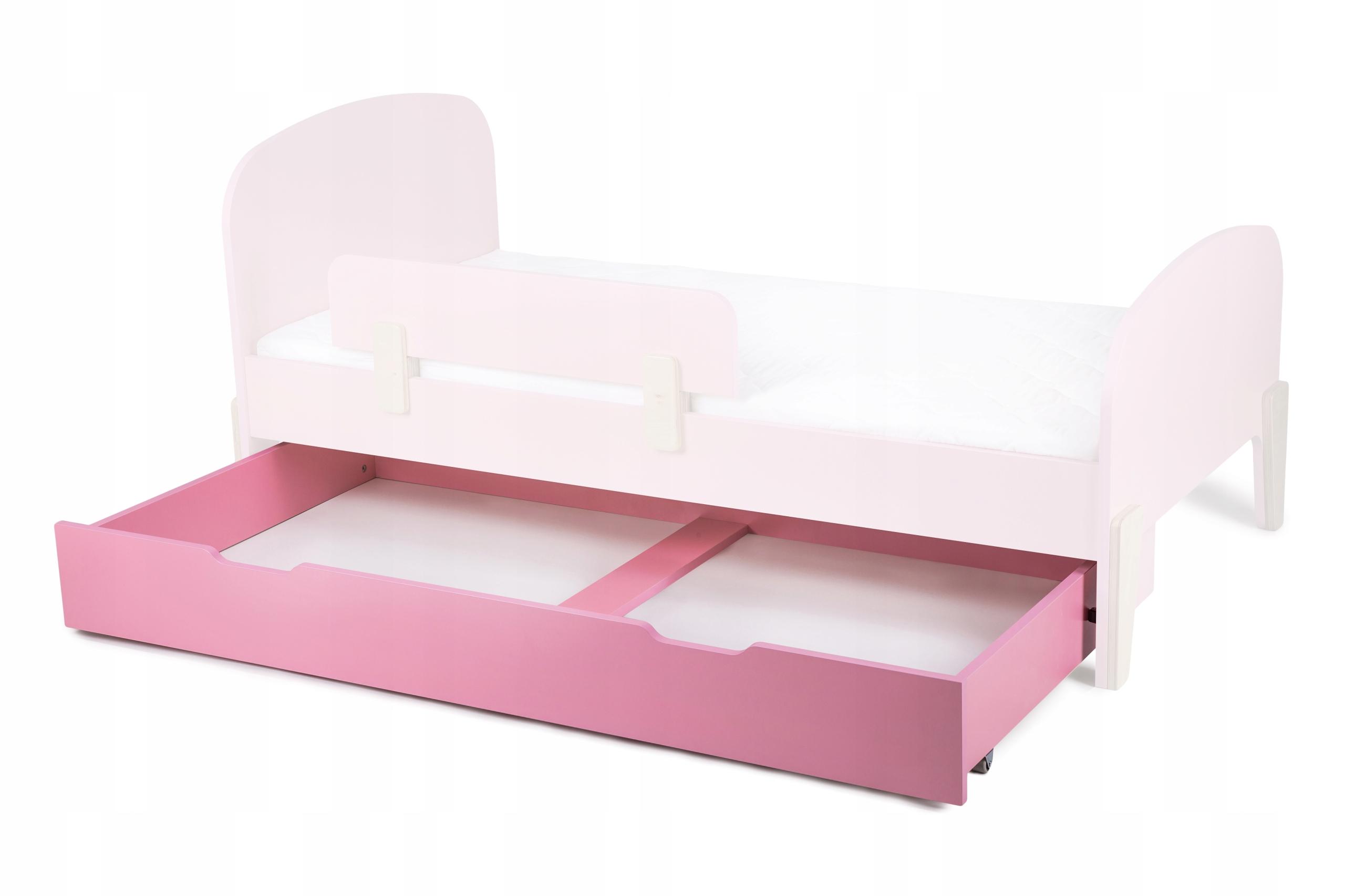 Zásuvka na kolieskach do postele RETRO, ružová, 80x160