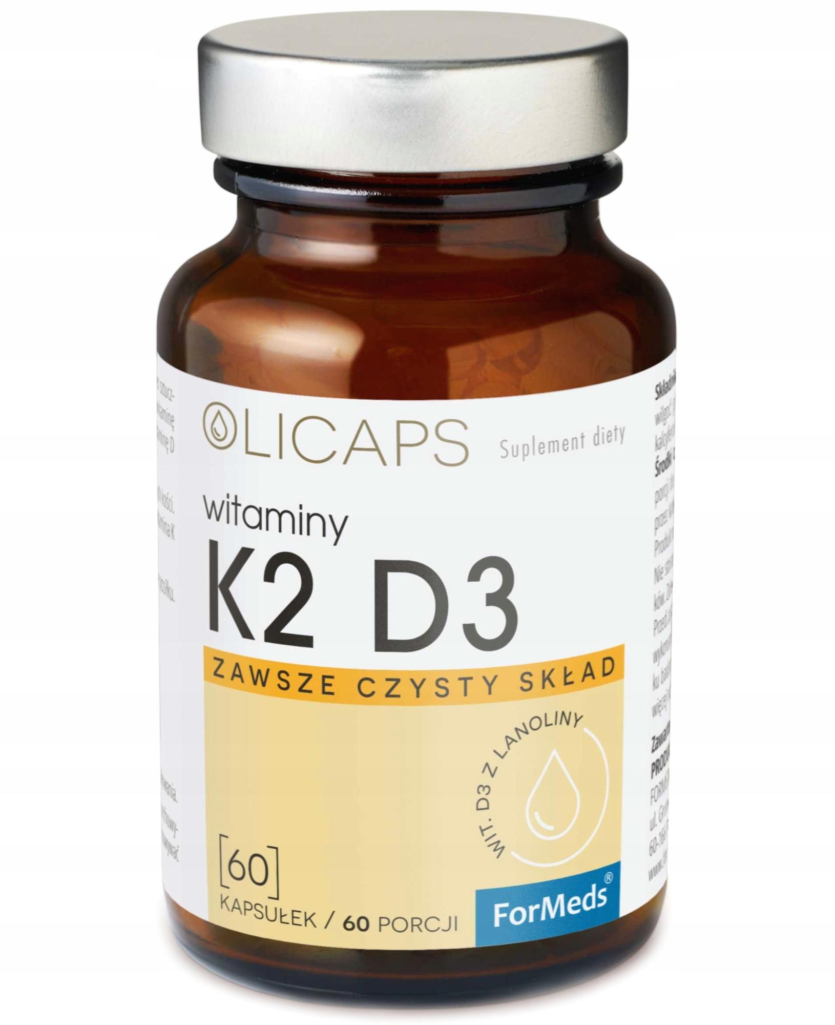 ForMeds OLICAPS witamina D3 K2 MK-7 naturlne 60k