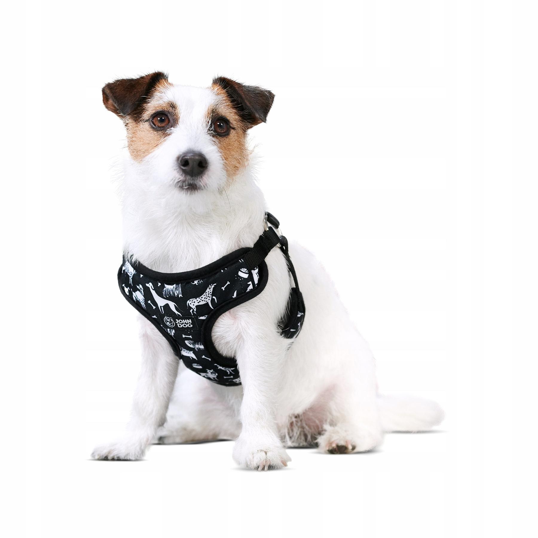Шлейка для собак John Dog Black Comics без давления S