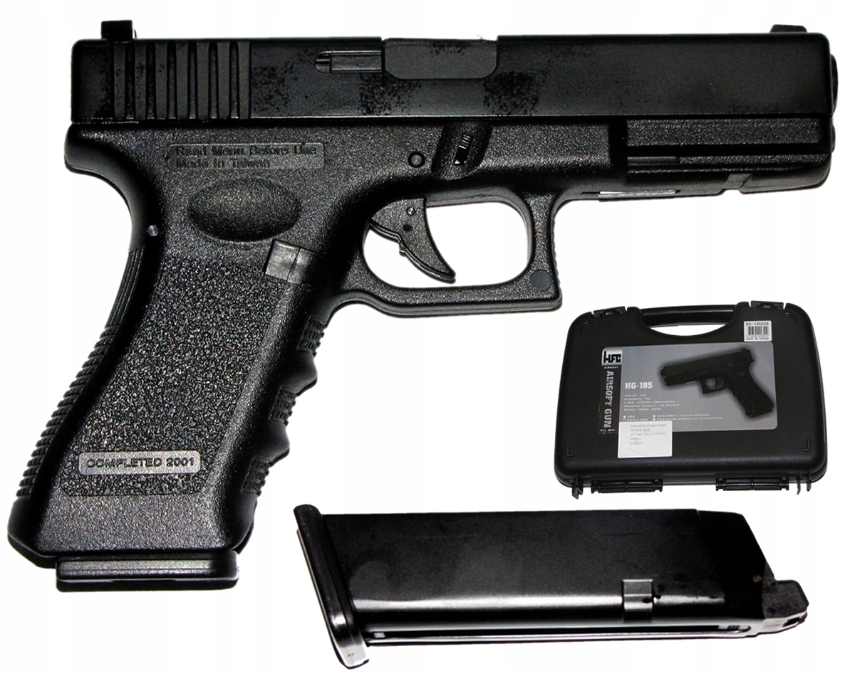GAS ASG 6 мм GLOCK G17 BLOW-BACK HFC