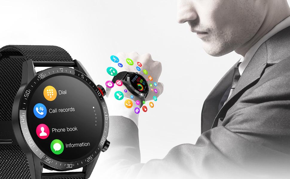 MENNS KLOKKE SMARTWATCH EKG KALLER TRYKK 4.0 GPS Locator Nei