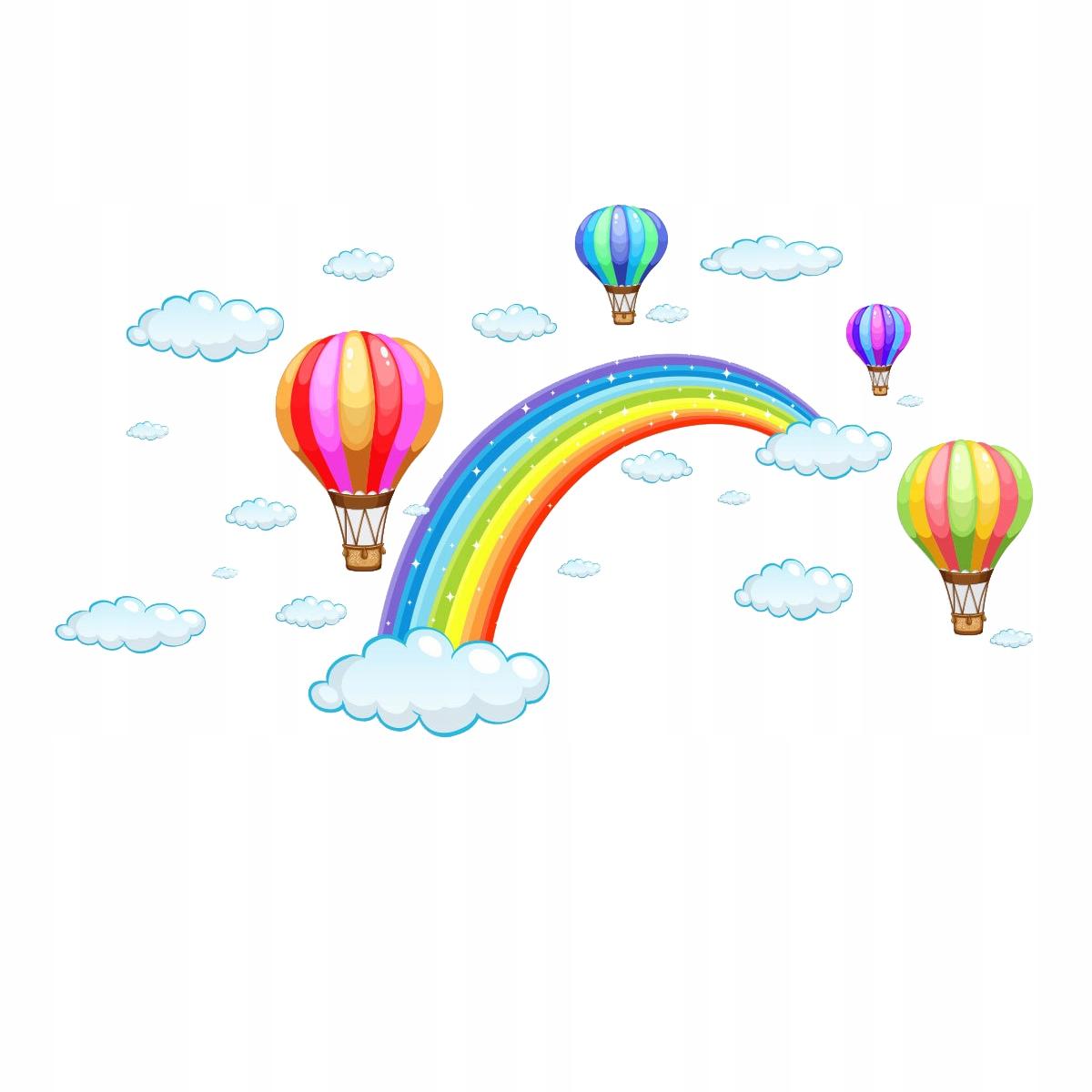 Наклейка на стену детская RAINBOW SKY 86x47см