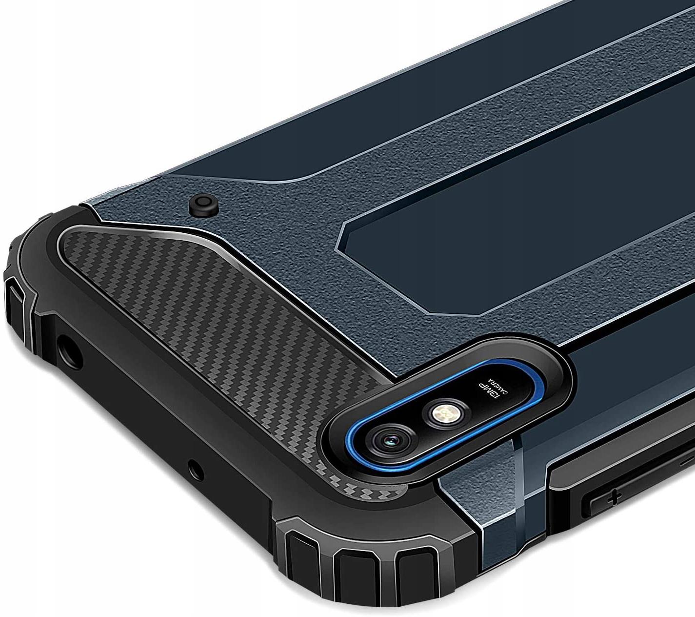 Etui do Xiaomi Redmi 9A Pancerne Case Armor +Szkło Dedykowany model Xiaomi Redmi 9A