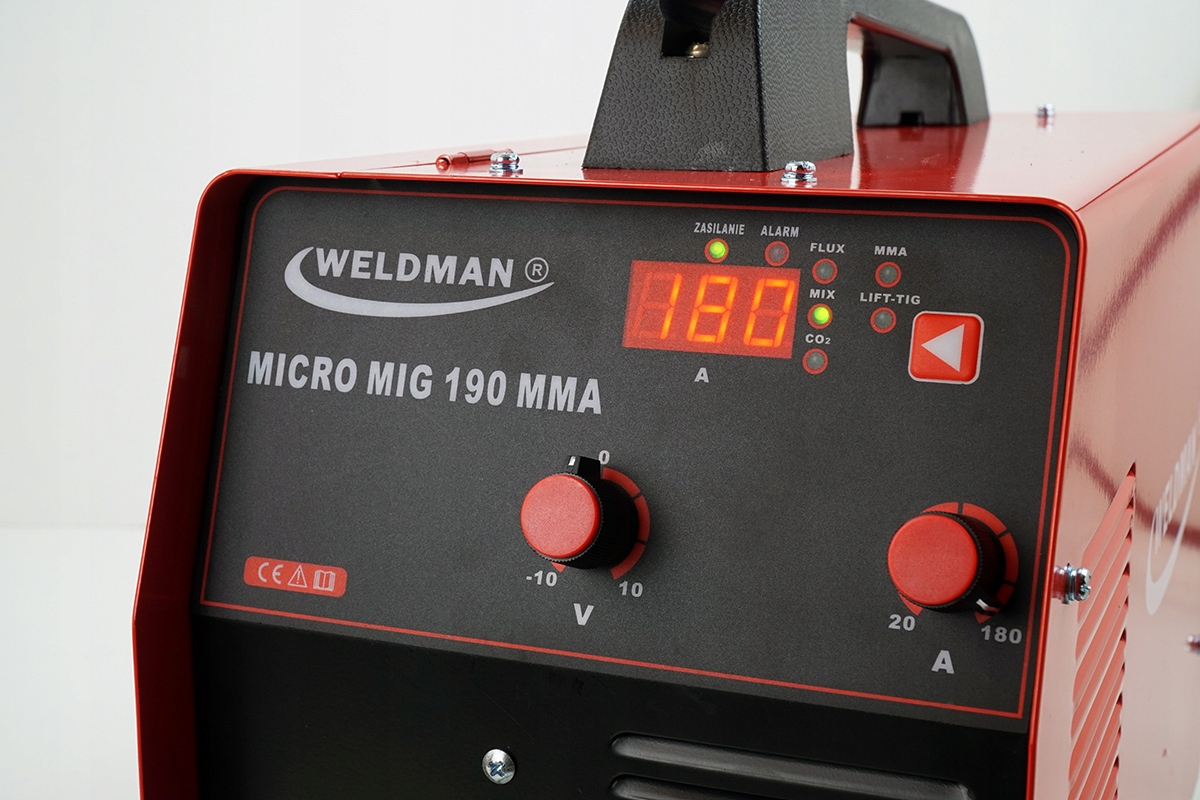 Spawarka inwertorowa MIGOMAT MIG 190 MMA TIG 230 V Moc pobierana 7.7 kVA