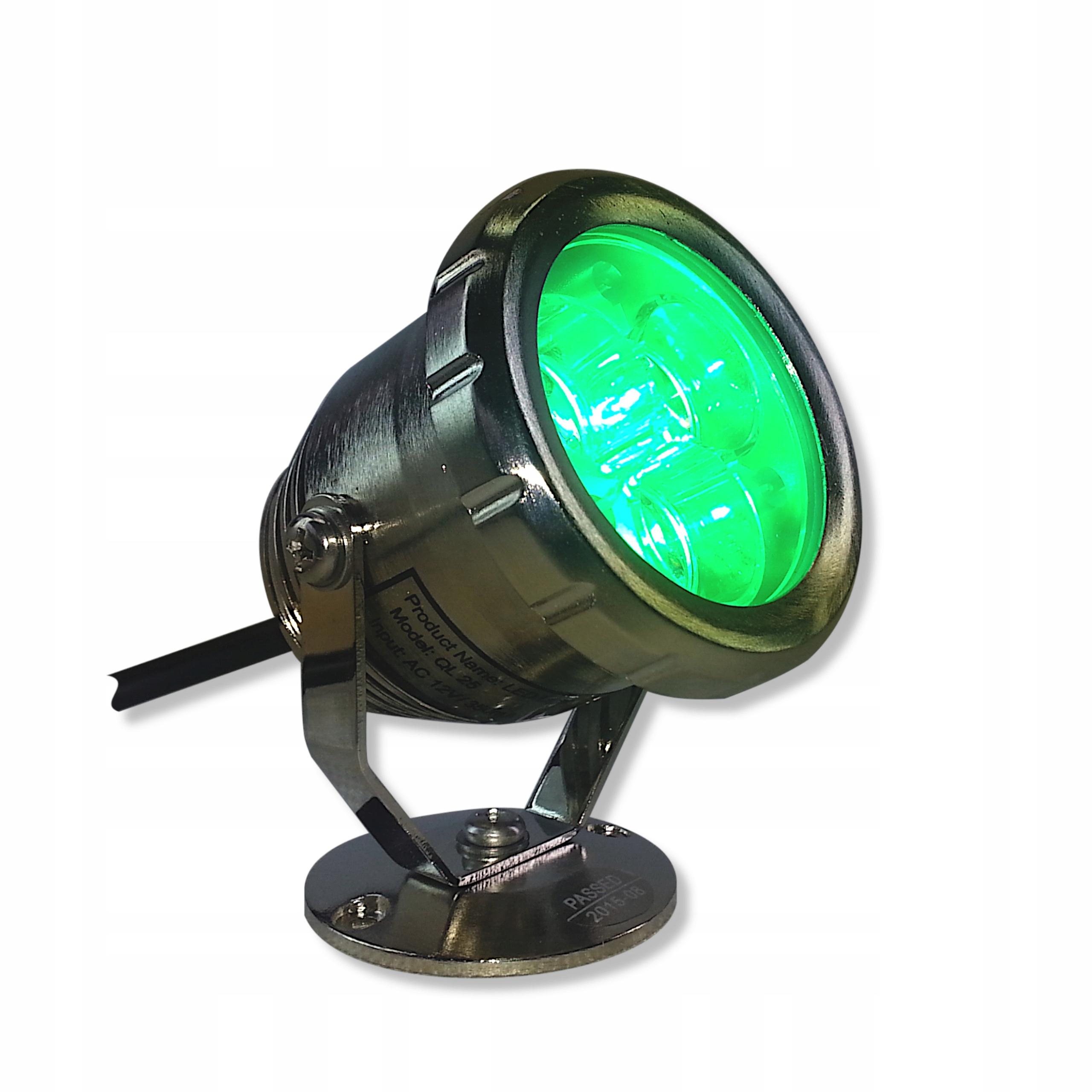 LAMPA LED - REFLEKTOR ZE STALI -QL 25 3W ŻÓŁTY