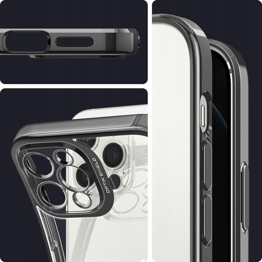 Etui Spigen Optik Crystal + Szkło do iPhone 12 Pro Producent Braders