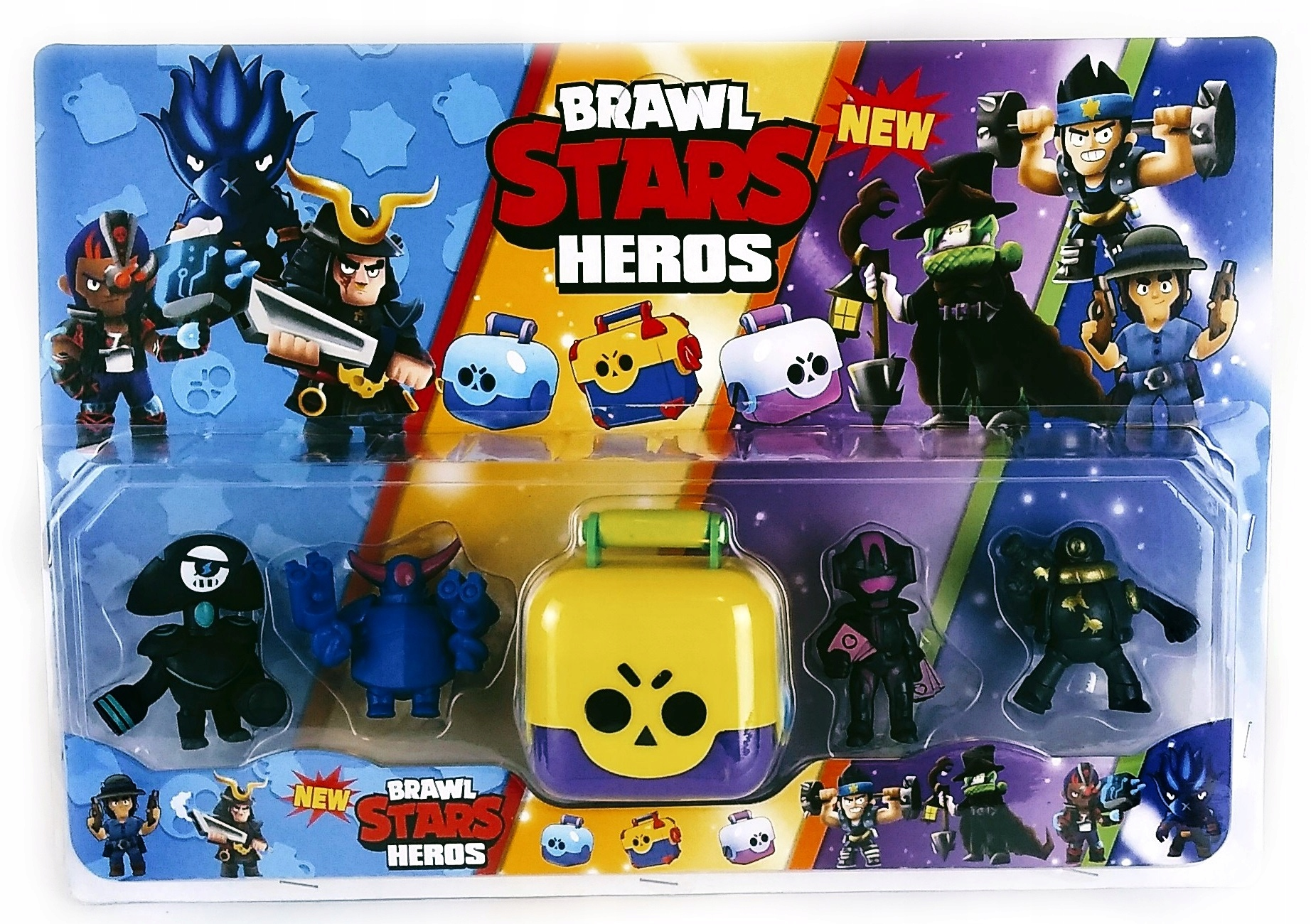 5x Mega figúrky kufor Raven Shark Brawl Stars