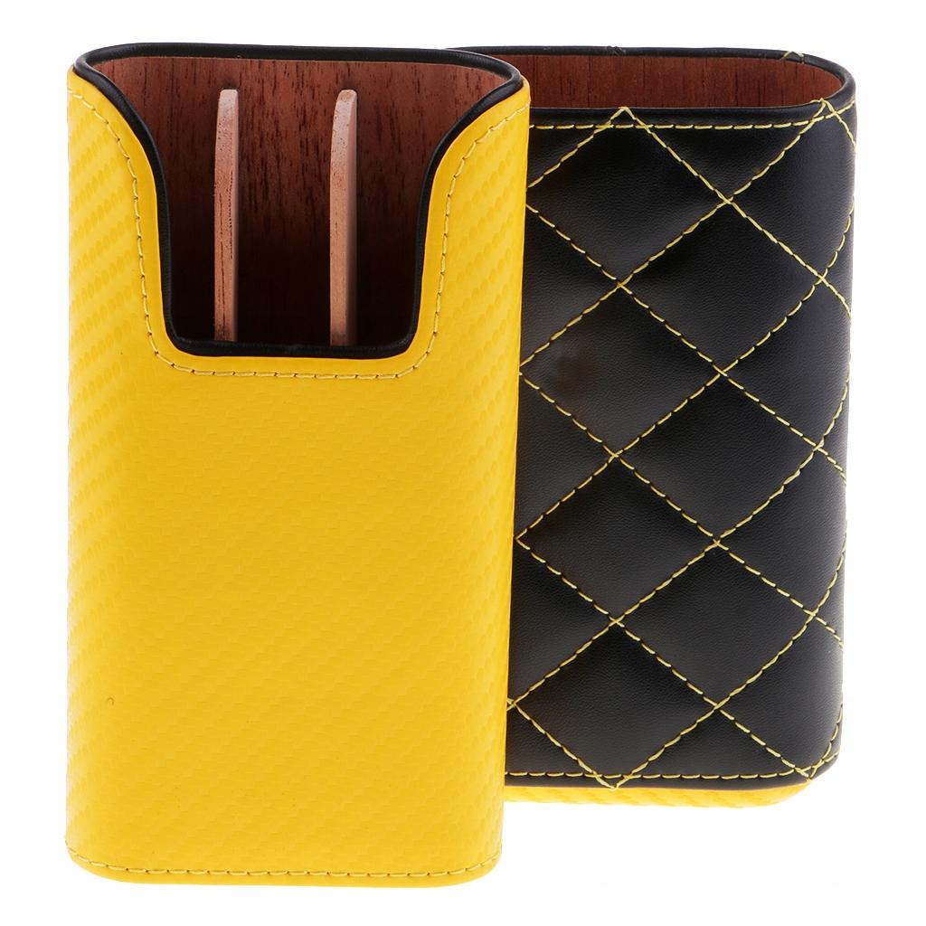 Кедровое чехол на сигару - Желтый