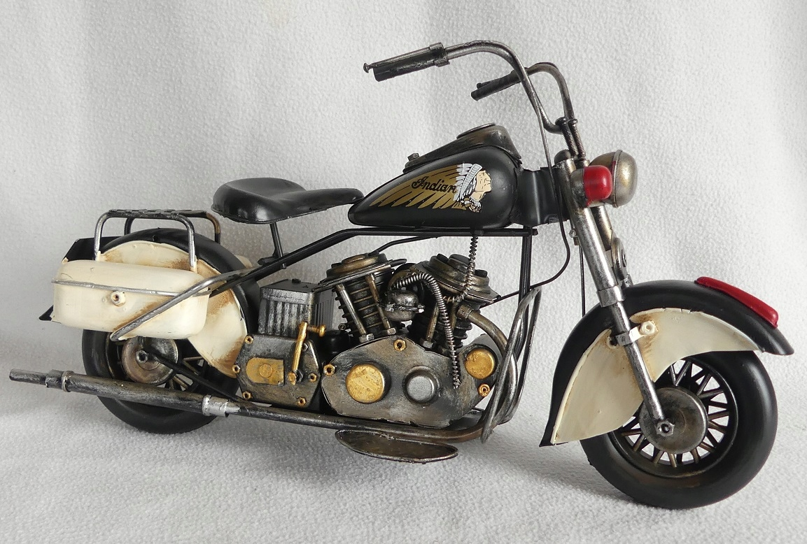 Kovové retro vozidlo MOTOR INDIAN 37,5 cm