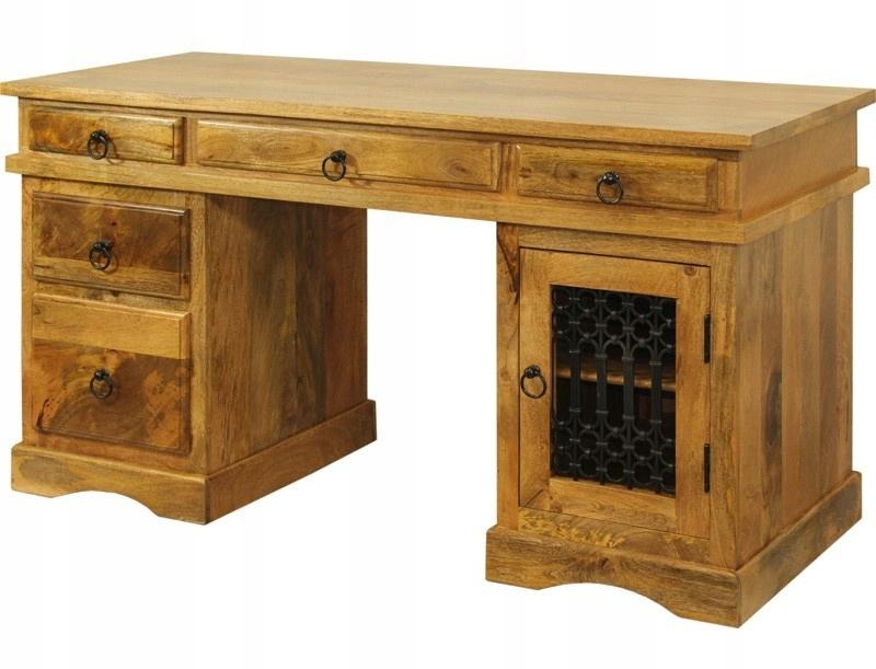 Kolonialne indyjskie drewniane biurko mango 102119