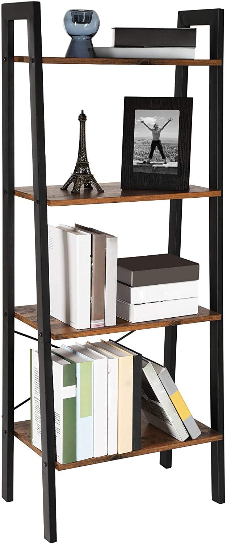 Книжный шкаф Vasagle Loft 136,8 см x 56 см x 34 см коричневый