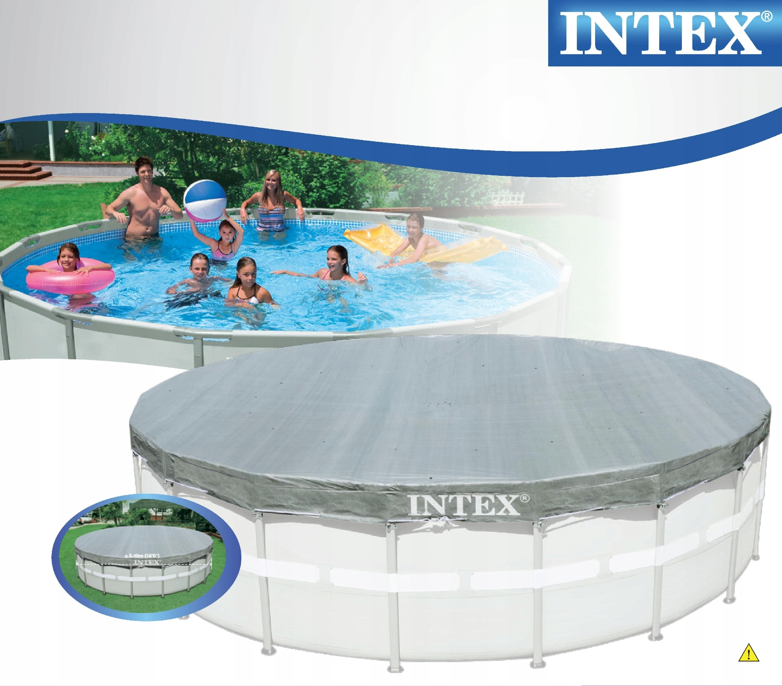 DUŻA POKRYWA BASEN STELAŻOWY 549cm INTEX 28041 Producent Intex