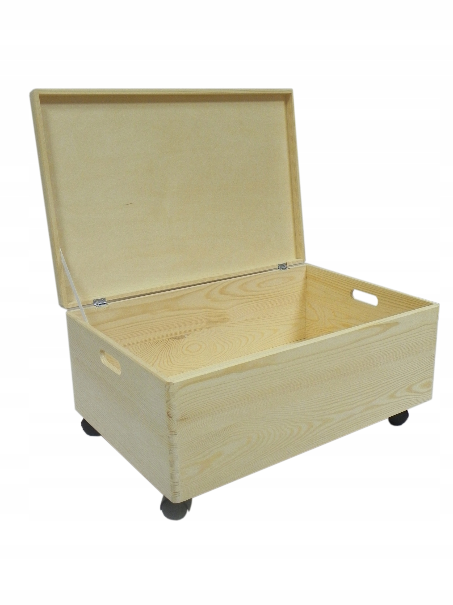 Drevený box na kolieskach, box, kufor 60x40