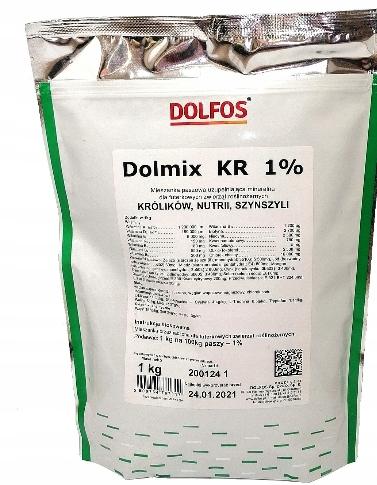 DOLMIX KR 1% Витамины для кроликов, шиншилл 1кг