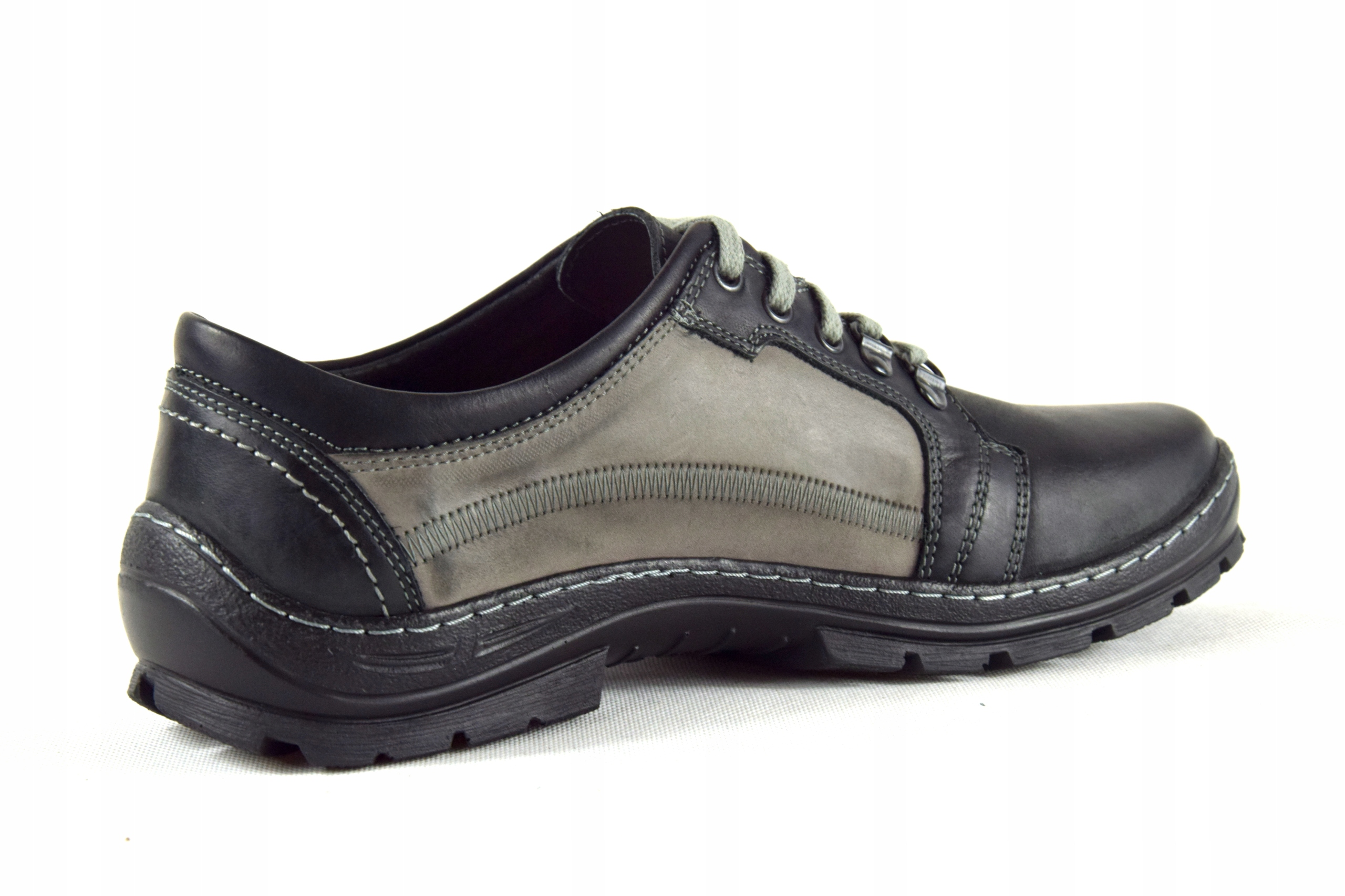 Półbuty trekkingowe męskie buty skórzane PL 192 Długość wkładki 27 cm
