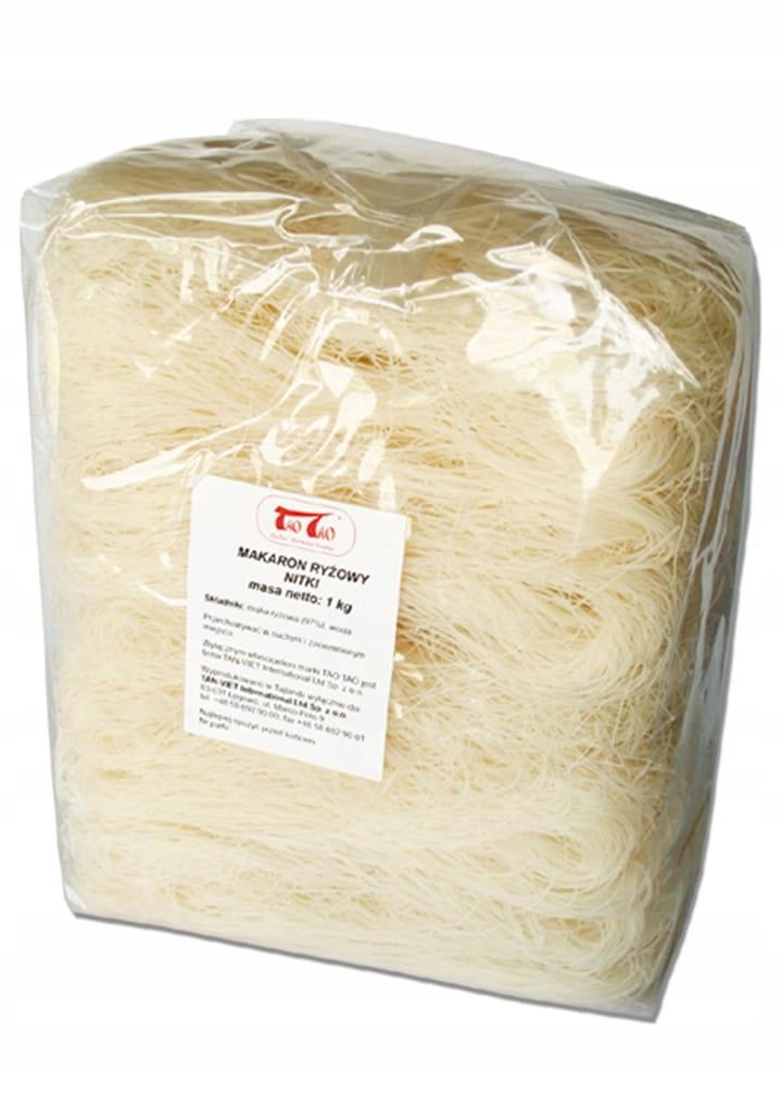 Makaron ryżowy nitki 1kg TaoTao