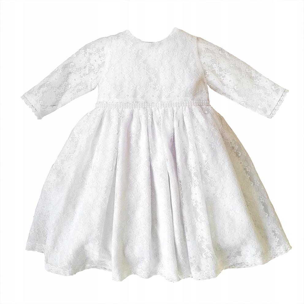 Biele šaty na krst LOLA veľkosť 74