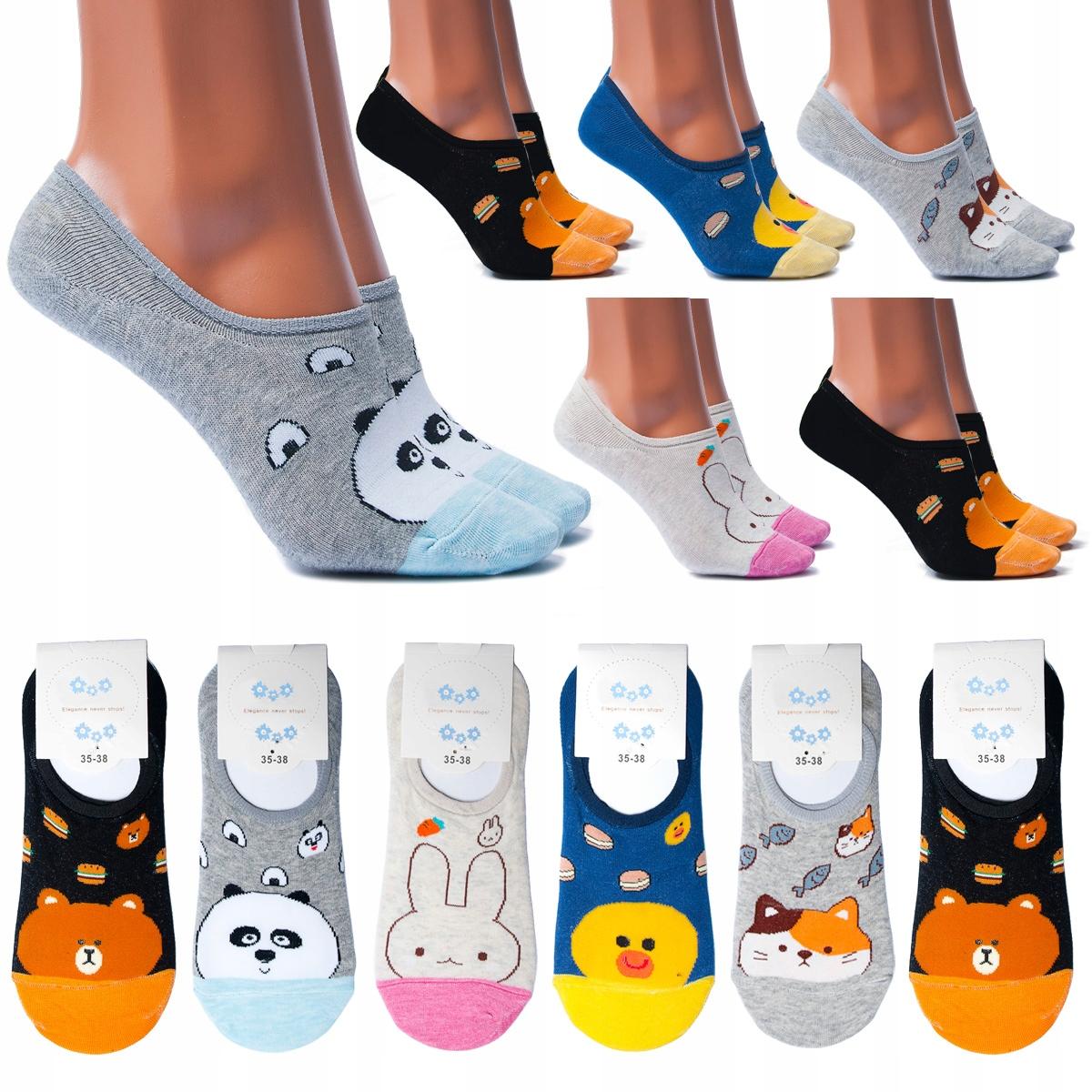 5 х женские хлопковые носки цветные нижние колонтитулы