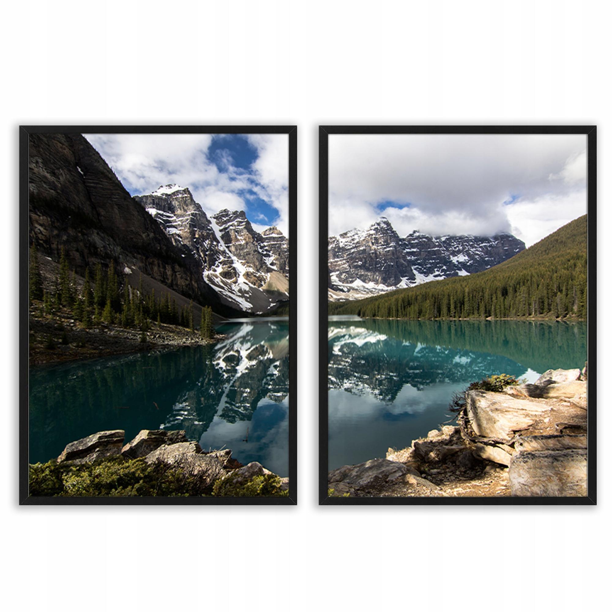 Seria Obrazy plakaty w ramie 86x53 cm jezioro góry