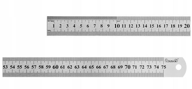 PRZYMIAR LINIOWY 750 mm LINIAŁ LINIJKA STALOWY