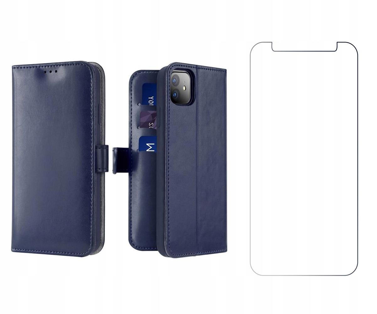 Etui Kado do iPhone 12 Mini niebieski + szkło