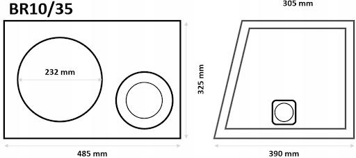 Skrzynka BR10/35-B obudowa bass-reflex subwoofera Marka Inna