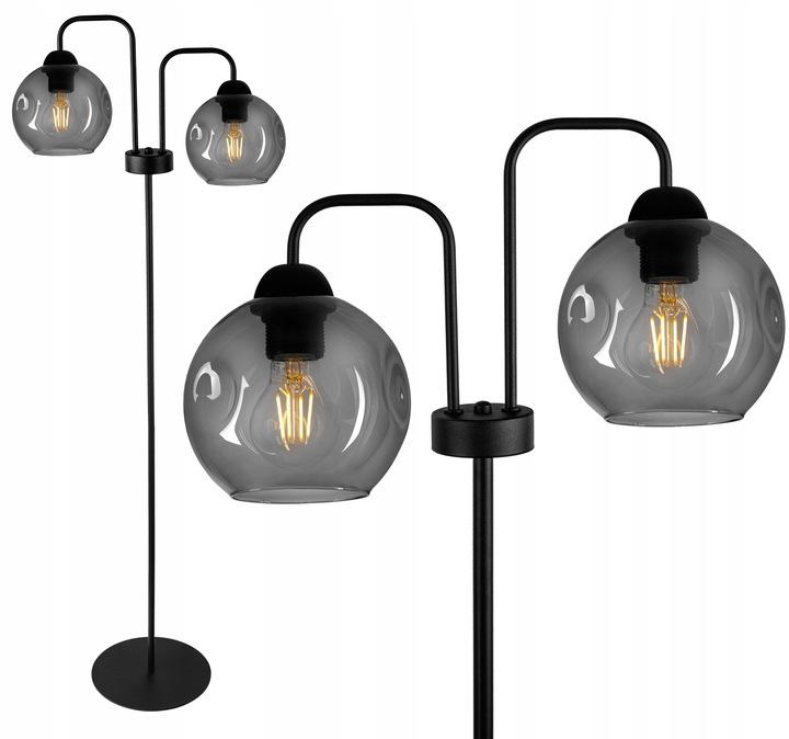 Sklenená podlahová lampa RETRO LOFT GLASS- FIBRAM
