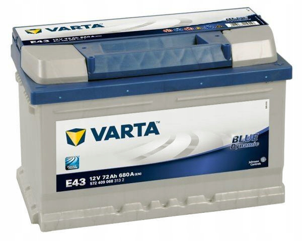 аккумулятор varta blue dynamic 72ah 680a e43