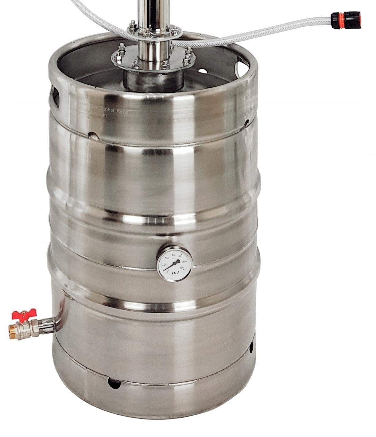 DESTYLATOR KEG 50 30l 2 ODSTOJNIKI ZIMNE PALCE Waga produktu z opakowaniem jednostkowym 29 kg