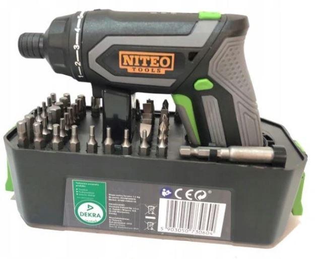 Аккумуляторная USB-отвертка Niteo Tools 49 бит