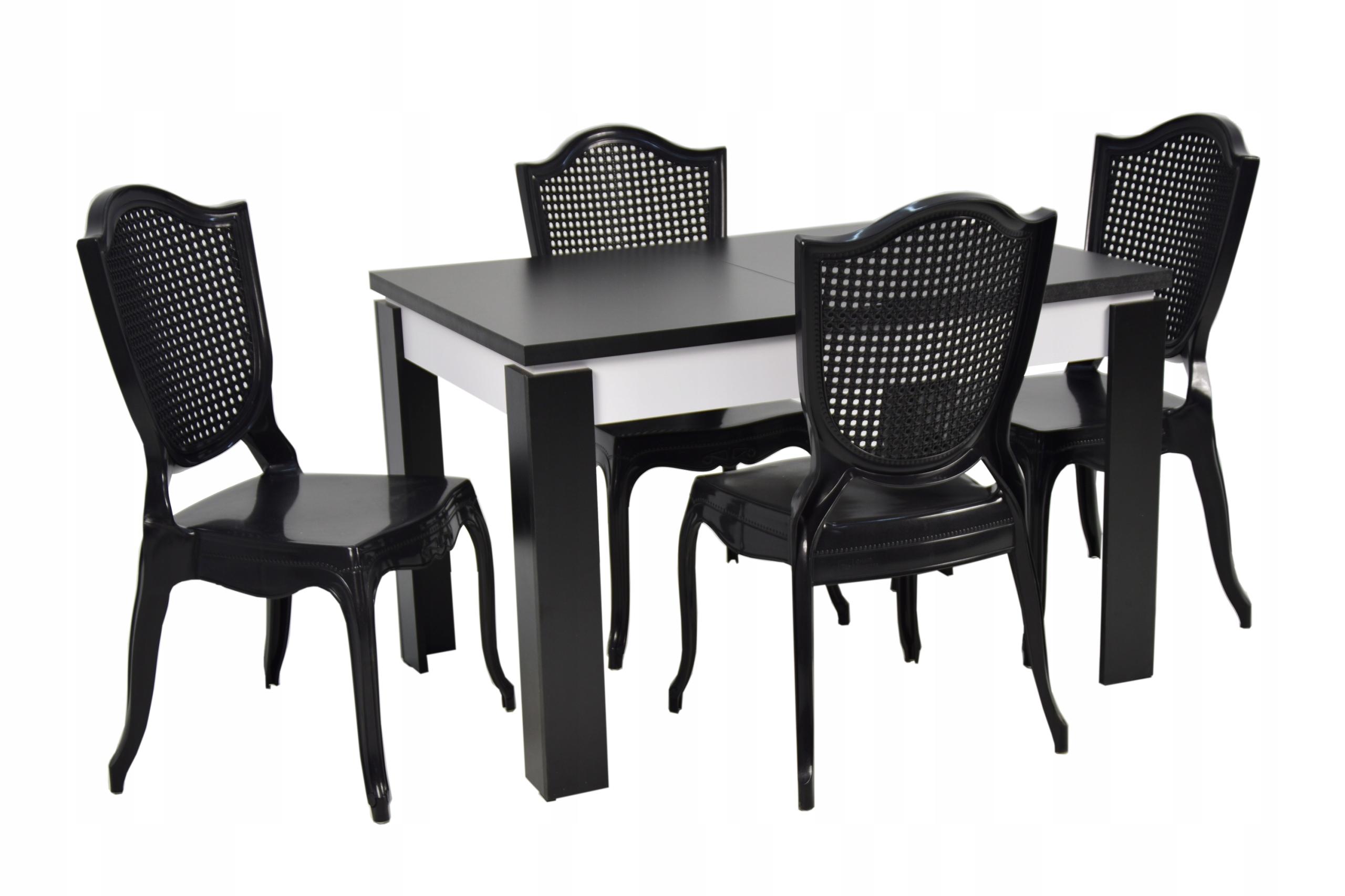 Комплект GLAMOUR стол и 4 стула РАСШИРЕННЫЙ до 1,6